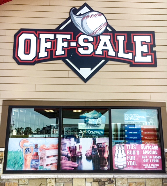 Off Sale Store Sign