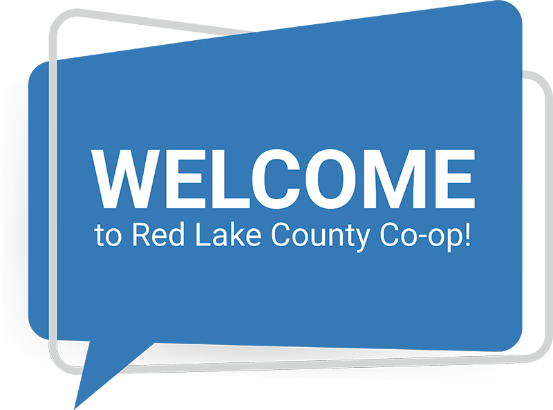"""""""Welcome to Red Lake County Co-op!"""" icon"""